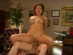 Sluty receptionist gets will not hear of pussy fucked by will not hear of manager