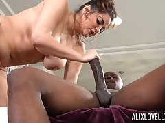Monster dick in tight pussy of chunky white lady Alix Lovell