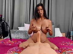 Mature pornstar Alexi Fawx with monumental tits having sexual congress with a doll