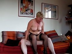 My wife is a bit on the heavy side but she's tall together with she loves to fuck