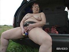 Mature amateur loves spreading her legs to masturbate - compilation