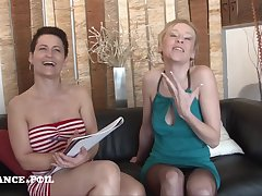 Ffm Ass Fuck Casting Couch Of A Gorgeous MILFs
