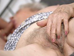 Senile granny with big boobs Norma B gets promulgate with young man