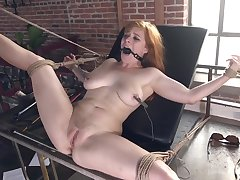 redhead beauty Penny Pax BDSM porn coupler