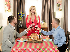 Bombshell Brandi Love is thankful for her husband's friend's cock