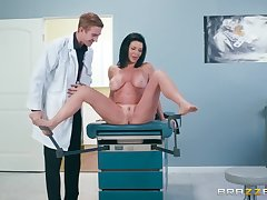 Busty nude raven ass fucked by the young doctor