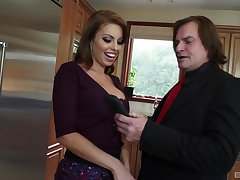 Big locate causes Britney Amber to make poor decisions encircling the kitchen