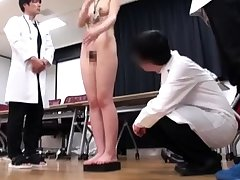 Japanese schoolgirl bondage with school uniform and gym suit