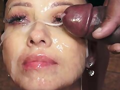 Vicky Love swallows 48 well-known mouthful cumshots